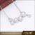 Wholesale fashion jewelry 18k rhodium flower clusters austria crystal zircon necklace for women