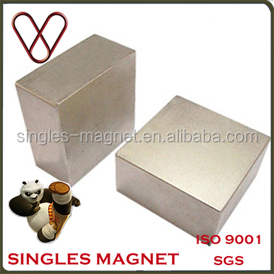 D50mmX25mmX10mm Factory Direct Permanent Super Strong Neodymium Block Magnet For Free Energy Generator