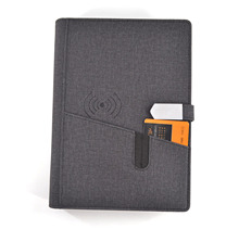 8000mAh Power Bank Diary Planner Note <strong>Book</strong> Wireless Charging Notebook With Powerbank and USB