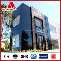 Mirror aluminum composite plate wall claddings