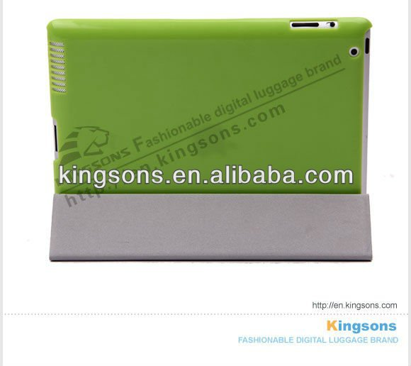 PC PU Smart Cover For IPAD2/ IPAD1 Case,6 Color Available
