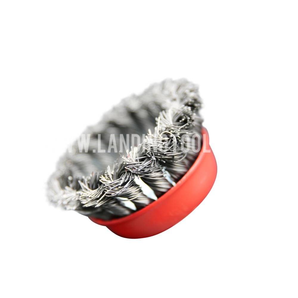 excellent quality low price twisted steel wire cup brush