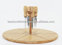 Function Bamboo wood cheese or pizza Cutting board