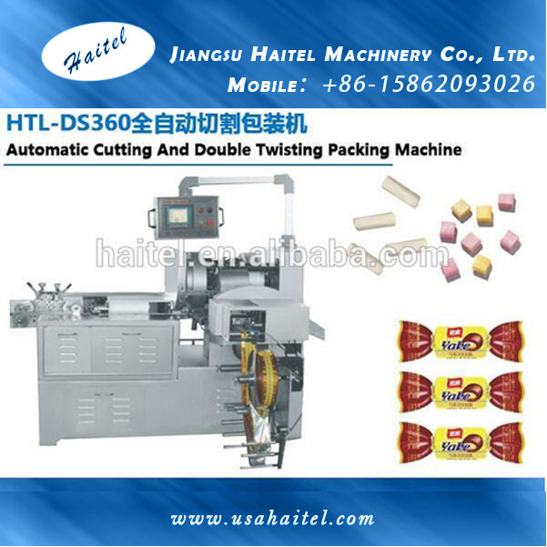 HTL-DS360 Automatic Column And Square Candy Cutting And Double Twist Packing Machine