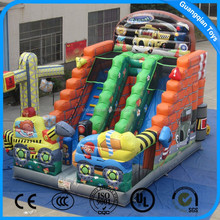 Guangqia Hot Sale PVC Material Kids Inflatable Cartoon Slide Castle Combo