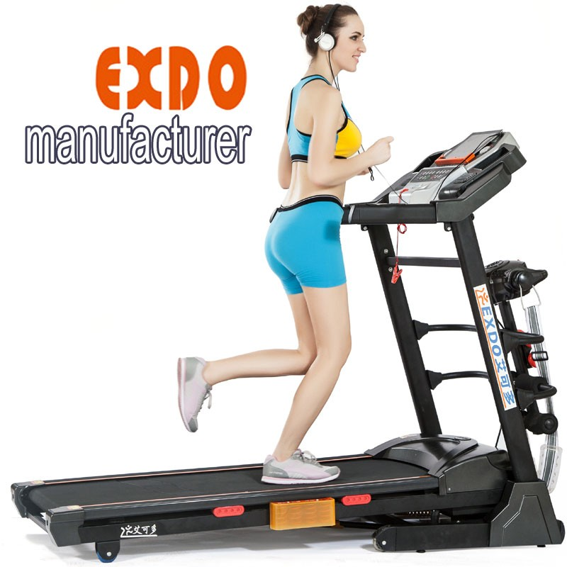 2017 New LCD screen home used treadmill, adjustable hydraulic cylinder for fitness with MP3 USB