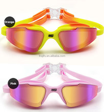 One-Piece Optical Swimming Goggles With Mirror Coating