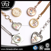 2018 New design stainless steel locket with floating charm