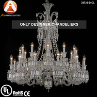24 Light Modern Crystal Chandelier in Baccarat Style