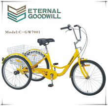 Adult tricycle with 3 wheels sigle speeds for family used 7001