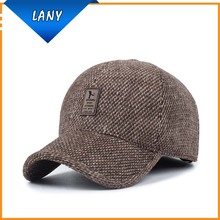 wholesale custom baseball cap with ear flaps winter hat dad hat