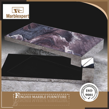 Top grade turnable onyx marble coffee tables