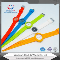 Simple dial mini colorful watch silicon strap cheap watch
