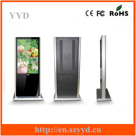 floor standing HD display media popular ad player 65 inch lcd display