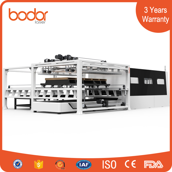 Automatic load and unload Protective Cover Fiber Laser Cutting Machine
