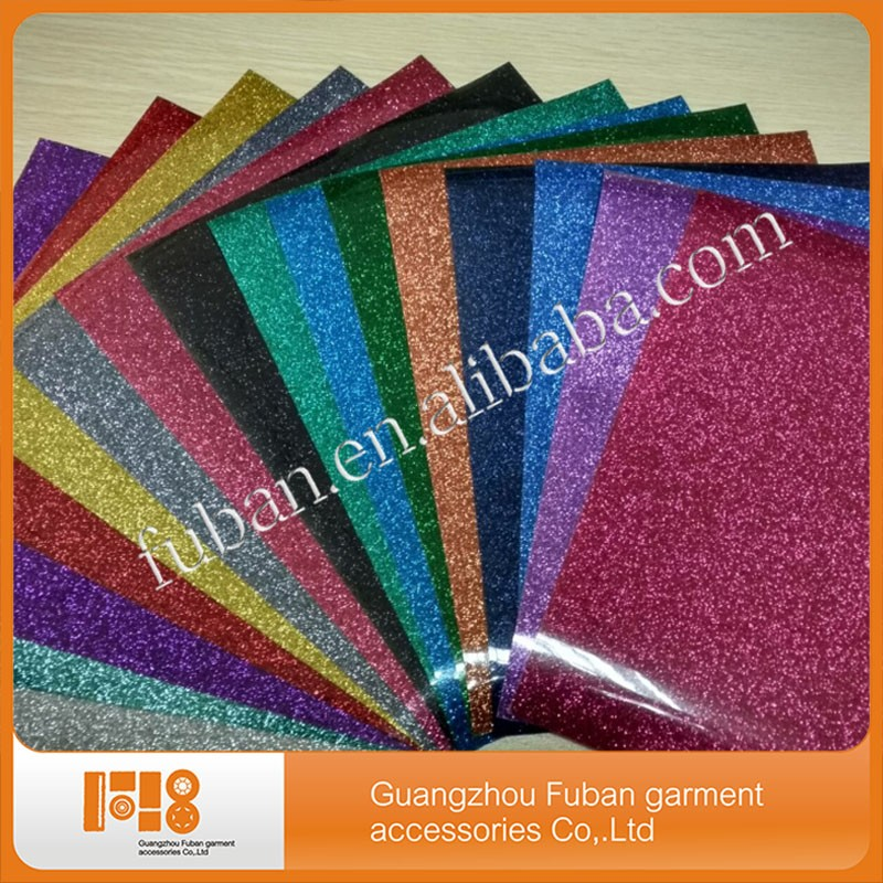 high quality most fashionable glitter heat transfer vinyl for clothing PU PVC hologram flock heat transfer film