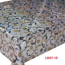 round plastic printed pvc disposable lightful table cloth