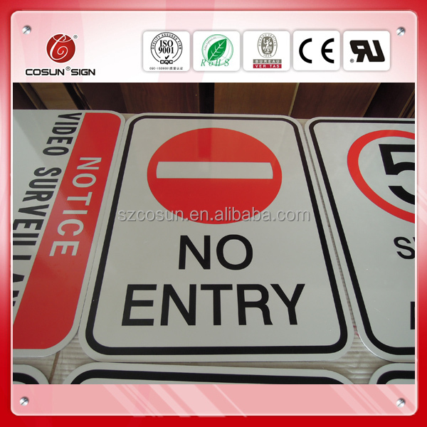 Custom UV printed directional parking signs
