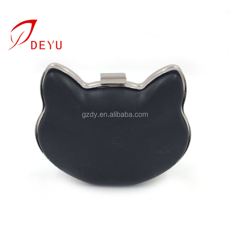2018 Newest Cat shape clutch bag metal frame purse frame suppliers