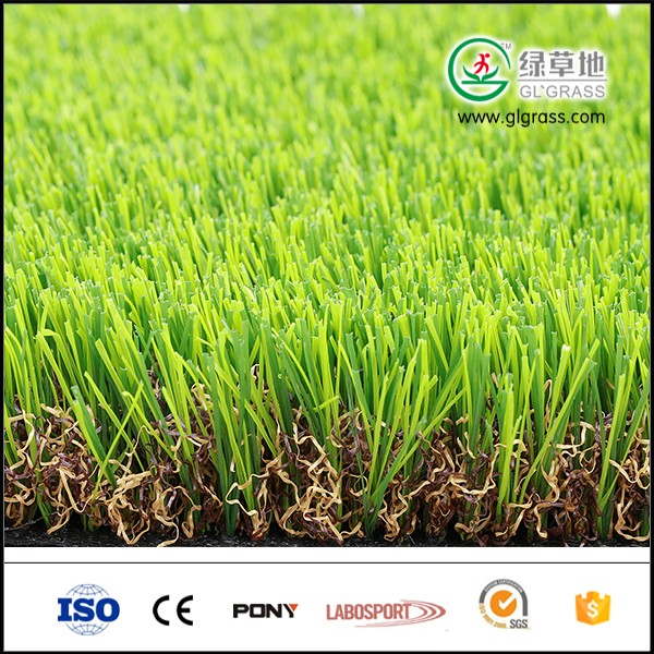 Synthetic lawn and C shape artificial grass for garden and residental