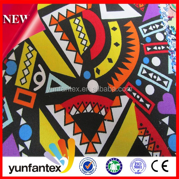 2016 fashional magical colorful pattern glamour 100 cotton printed fabric for beach shorts