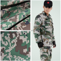 Polyester cotton ripstop camouflage fabric