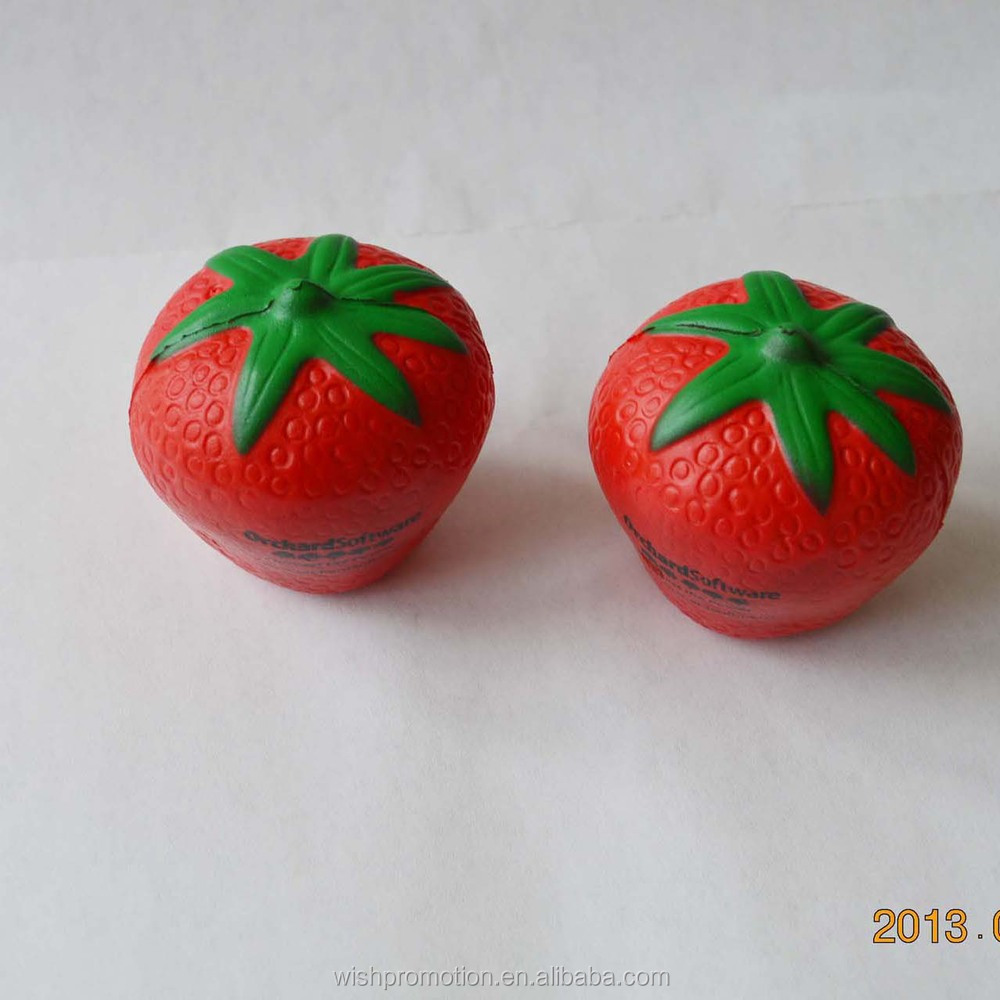 strawberry stress ball pu stress toy anti stress ball