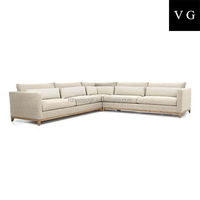 Home living roomm furntiure sofa set antique fabric chaise lounge sectional sofa