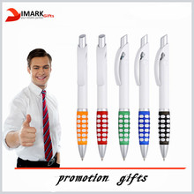promotion push action ball pen with dot grip