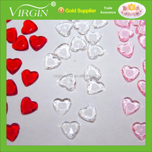 Acrylic heart shape Confetti Wedding Party Table Scatters Crystal Decorations