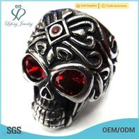 fashion jewelry skull ring,stainless steel raschig ring,stainless steel adjustable ring base
