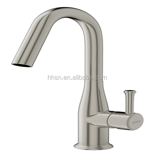 Commercial single handle brushed nickel kitchen faucets