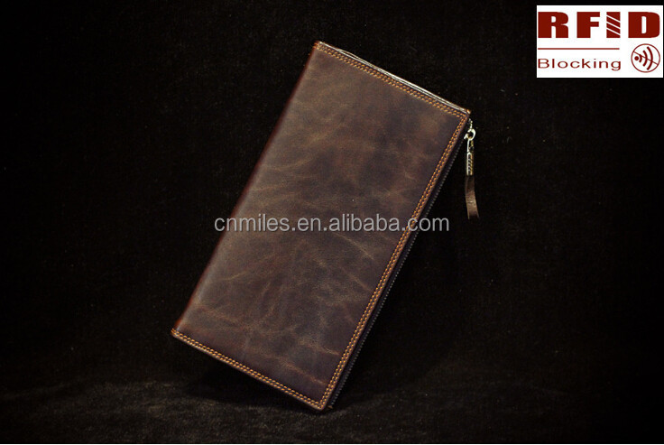 Rfid Blocking Security Distressed Vintage Leather wallet,men wallet