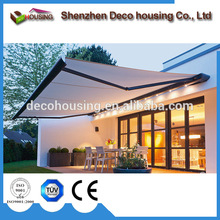 Competitive price trade assurance supplier full-cassette electric retractable deck awning sunshade cassette