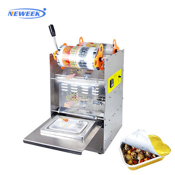 NEWEEK hand pressing tray sealer packing plastic bowl sealer machine