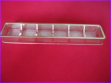 Disposable PP goden blister tray for chocolate
