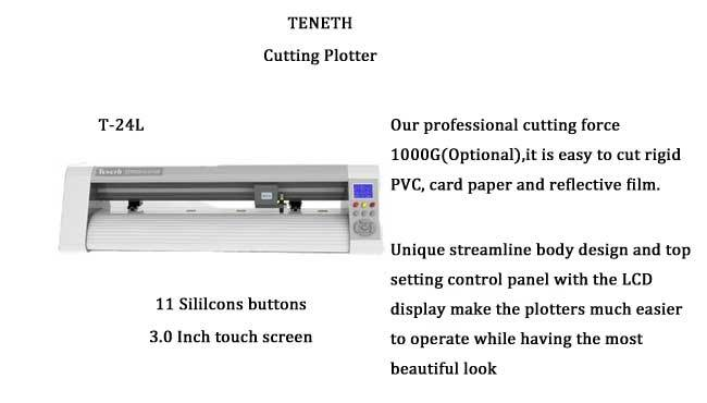 24'' 48'' 59'' Vinyl Plotter Cutter support Automatic Contour Cut Cutting Plotter with Servo Motor (Factory Sell)