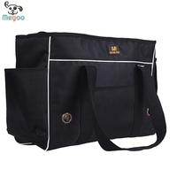 Classic Pure Black Pet Travel Carrier Oxford Dog Carrier Purse With Invisable Breathable Hole