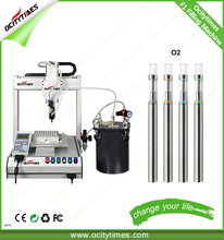 China electronic cigarette factory made OCITYTIMES-F1 refillable thick oil 510 disposable e cig filling machine