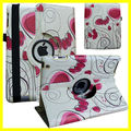 Artwork Printing Case for ipad air 2 ipad 6 PU Leather 360 Degree Rotating Custom Pattern Heart New Hot manufacturer Wholesales