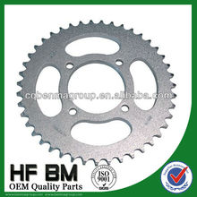 OEM Quality YBR125 motorcycle chain sprocket ,high quality motorcycle sprocket factory cheap sell !