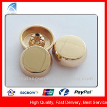 YX5588 Fancy Dome Shiny Gold Coat Button