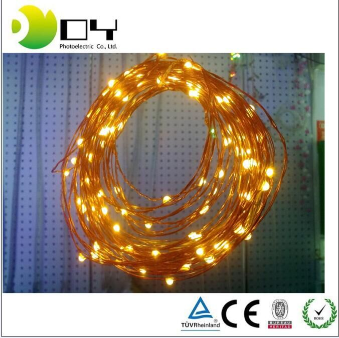 LED String Lights Battery Powered with Remote Control 16FT 5M 50 leds IP65 Indoor/Outdoor Copper Wire Christmas Tree Timer Rope
