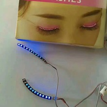Party supplies sound interactive shiny led eye lashes flashing eyelashes