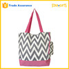 China Supplier Polyester Chevron Tote Shoulder Bag With An Attached Purse