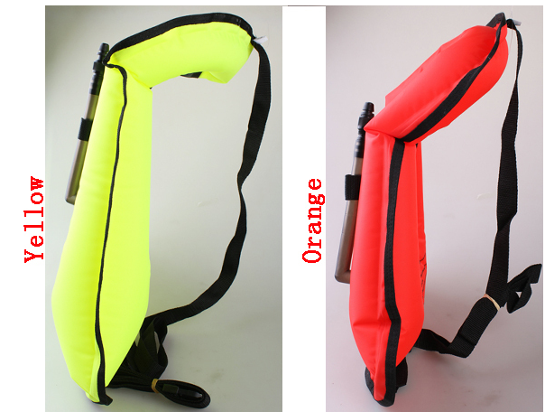 210 Denier Nylon TPU Coating Inflatable Adult Swim Snorkel Life Safety Jacket