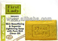 First Lady Fast Actives Lemon Skin Beautifying & Superior Lightening Soap with Rich Citron Oil 200g