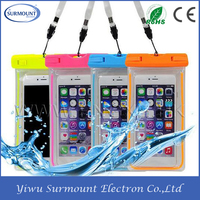 New ! China Customized PVC Waterproof Mobile Cell Phone Bag Smartphone Bag for Swimming