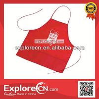 Red fashion cafe staff cooking apron,uniform apron