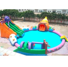 outdoor festival Inflatable Water Park Slides for sale